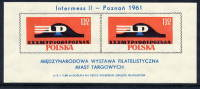 "POLAND 1961 Poznan ""Intermess II"" Block MNH / **  Michel Block 25 - 1944-.... Republic"