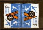 Sello De URSS  Rusia Año 1963  Yvert Nr.2644  Nueva  Tete-beche - 1923-1991 URSS