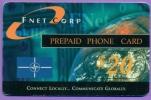F N E T  Corp    Prépaid Phone Card   Code  $ 20     B  E  Utilisé  Bords - Armée