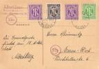 AM-Post Sonderkarte Mif Minr.2x 1,3,16 Essen-Werden 12.6.46 - Bizone