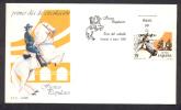 SPAIN ESPAGNE 1987. FIRST DAY COVER . JEREZ HORSE FAIR. - Pferde