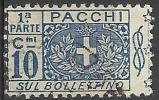 1914 10 C. - Stemma, Cifra E Nodo Di Savoia - Sezione Bollettino - Usato - Oblitered - Pacchi Postali