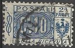 1914 10 C. - Stemma, Cifra E Nodo Di Savoia - Sezione Ricevuta - Usato - Oblitered - Pacchi Postali