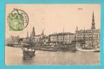 LETTONIA RIGA HAFEN CARTOLINA FORMATO PICCOLO VIAGGIATA NEL 1925 - Lettonia