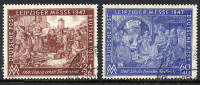 ALLIED OCCUPATION 1947 Leipzig Spring Fair Set Used.  Michel 941-42 - American,British And Russian Zone