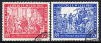 ALLIED OCCUPATION 1947 Leipzig Autumn Fair Set Used.  Michel 965-66 - American,British And Russian Zone