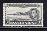 Ascension Scott #44Ac Mint Hinged 3p Long Beach George VI Perf 13.5 - Ascension (Ile De L')