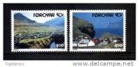 Dinamarca/Faroe 1993 YT242-43 ** Turismo En Los Países Nórdicos: Vistas De Gjogo. Fiordos. - Vacaciones & Turismo