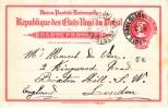 Brasil  To Londin Postal Card 1908 - Postal Stationery