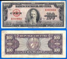 Cuba 100 Pesos 1954 Aguilera Caraibe Caribe Kuba Pesos Paypal Skrill Bitcoin OK! - Cuba