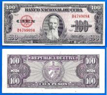 Cuba 100 Pesos 1954 Aguilera Caraibe Caribe Kuba Pesos Paypal Moneybookers OK! - Cuba
