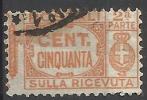 1927 - 50 C. - Aquila, Cifra E Fasci - Sezione Ricevuta - Usato - Oblitered - 1900-44 Vittorio Emanuele III