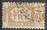 1927 - 3 L. - Aquila, Cifra E Fasci - Sezione Ricevuta - Usato - Oblitered - 1900-44 Vittorio Emanuele III
