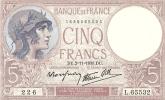 5 Francs Violet Type 1917 - 1871-1952 Antiguos Francos Circulantes En El XX Siglo