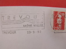 OBLITERATION FRANCAISE 1992 TREVOUX 01 - Marcophilie (Lettres)