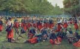 THEMES - MILITARIAT - En Guerre - Zouaves à La Grand'halte - Regiments