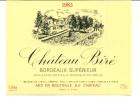 ETIQUETTE DE VIN CHATEAU BIRE BORDEAUX Supérieur 1985 - Vieux Papiers