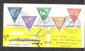 SURINAME  ZEER MOOIE F.D.C.  AERO ZEGELS VOLLEDIGE REEKS  12 MAART 1960 OPENING ZANDERIJ - Suriname ... - 1975