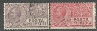 REGNO-POSTA PNEUMATICA 1925-USATI - Posta Pneumatica