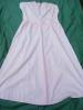 Chemise De Nuit Rose Saumon  -- Pour  Theatre -tour De Poitrine 92 Cm HAUTEUR 117 CM Monogramme P D  -ref 24 - Vintage Clothes & Linen