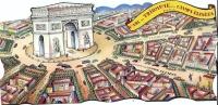 """REF LBR 30 - CARTORAMA  ANNEES 1950 """"ARC DE TRIOMPHE ET CHAMPS ELYSEES"""" NEUVE - Arc De Triomphe"""