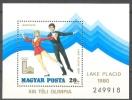 HUNGARY - 1979. AIR. Winter Olympic Games, Lake Placid S/S - MNH - Blocks & Kleinbögen