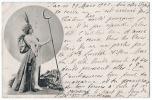Micheline - Jeune Femme Avec Un Sceptre Lune - Actrice Théatre - écrite En 1901 - Dos écrit - Femmes