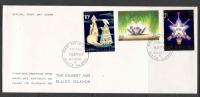 Gilbert & Ellice Islands  1972  Christmas Set  On FDC - Christmas