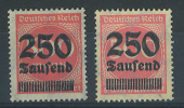 VEND TIMBRES D ´ ALLEMAGNE N° 295 X 2 DONT 1 PLUS FONCE  , NEUFS LUXE - Deutschland