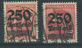 VEND TIMBRES D ´ ALLEMAGNE N° 295 X 2 DONT 1 AVEC SURCHARGE DECALEE - Deutschland
