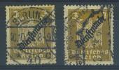 VEND TIMBRES D ´ ALLEMAGNE DIENSTMARKEN N° 105 A+ 105 B - Deutschland