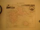 GUADELOUPE Carte Géographique Ancienne Originale - Geographical Maps