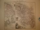 MARTINIQUE, GUYANE, ILES ET BANCS DE TERRE NEUVE Carte Géographique Ancienne Originale - Cartes Géographiques