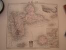 GUADELOUPE ET DÉPENDANCES, ST MARTIN & BARTHÉLEMY Carte Géographique Ancienne Originale - Cartes Géographiques