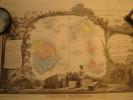 COLONIES FRANÇAISES EN AMÉRIQUE Carte Géographique Ancienne Originale - Geographical Maps