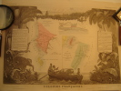 COLONIES FRANÇAISES EN AFRIQUE Carte Géographique Ancienne Originale - Cartes Géographiques