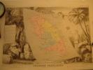 MARTINIQUE Carte Géographique Ancienne Originale - Cartes Géographiques