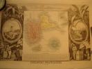 GUADELOUPE Carte Géographique Ancienne Originale - Cartes Géographiques