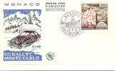 Monaco - Premier Jour  Xxvll Rallye Montecarlo. 1958 - FDC