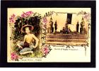 Carte Postale  BANGKOK  :  Paysanne Et Intérieur De Pagode Phrapathom  -  1907 - Tailandia