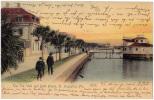 AK AMERIKA  THE SEA WALL AND BATH HOUSE ST.AUGUSTINE  FLA. OLD POSTCARD 1905 - Postcards