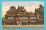 BIRMANIA PITTORESCA ABITAZIONE DI BONZI CARTOLINA FORMATO PICCOLO VIAGGIATA - Myanmar (Burma)