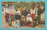 BIRMANIA PITTORESCA PORTATORI CARIANI CARTOLINA FORMATO PICCOLO VIAGGIATA - Myanmar (Burma)