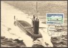 Carte 1er Jour 25/10/1969  LE REDOUTABLE,sous-marin Français   (bon Etat) - 1960-69