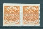 Samoa: 1880   Express Stamp    SG20   9d   Orange-brown        MH Pair - Samoa