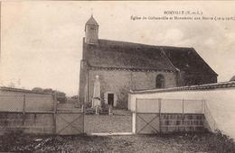 BONVILLE EGLISE DE GELLAINVILLE ET MONUMENT AUX MORTS - Otros Municipios