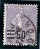 - A . 1926 / 27  - Obl - Y.T. N° 223  - 50 C Sur 60 C  - Violet  - - 1903-60 Sower - Ligned