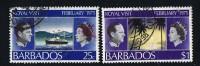 BARBADOS  1975  Royal Visit  Sc 416, 419 Postally Used - Barbados (...-1966)