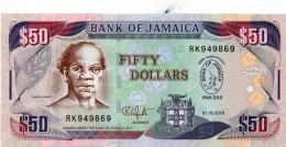 JAMAICA P 83, P83, (2010), 50 DOLLAR, UNC - Giamaica