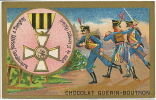 Russia Chromo 10,5 Cms By 6,5  Ordre De St Georges  Pub Chocolat Guerin Boutron - Chocolat